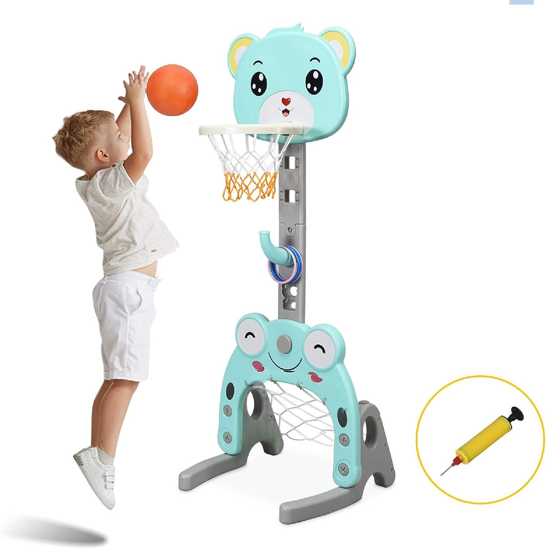 Costzon Basketball Hoop Set Stand, Kids 3-in-1 Sports Activity C