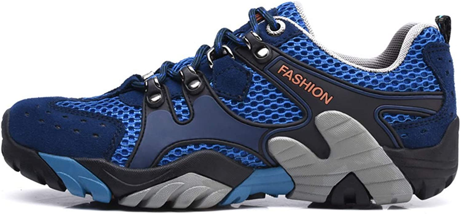 Breathable mesh Outdoor Hiking Hiking shoes Suede Leather Sports Running shoes Large Size Wading Upstream shoes