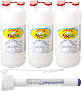 King Technology Pool Frog Mineral Purifier Replacement Chlorine Bac Pac (3 Pack Bundled with Pearsons Thermometer)