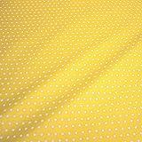 Stoff Baumwolle Acryl Punkte klein gelb weiß Regenjacke