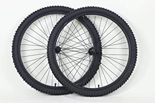26 inch Mountain Bike Bicycle Wheels for Threaded Spin On Freewheel for Rim Brakes with Kenda Kobra 26 X 2.0 Tires and Tub...
