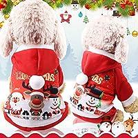 子犬のファッション猫のコート正月犬のコートのためのクリスマス犬の服冬の猫の服犬のコスチュームサンタクロースコスチューム,M