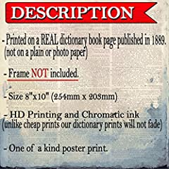 Animal Art Prints Set on Antique Dictionary Pages, Steampunk Decor #1