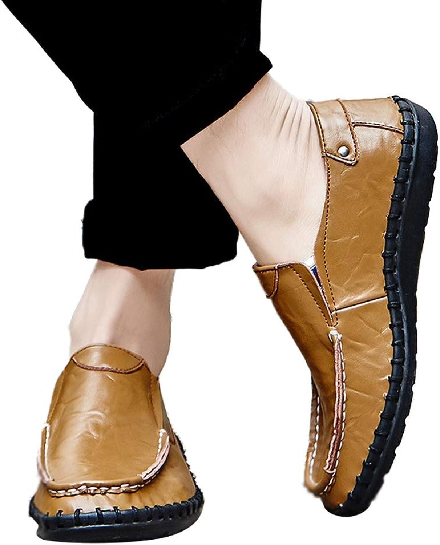Sam bille herrar Oxfords Moc -Toe -Toe -Toe Handgjorda blå gul Comfortable Slip -on skor  njut av 50% rabatt