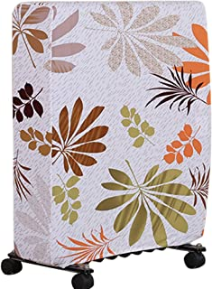 PLAFUETO Stretch Oil Filled Radiator Cover Dust-proof Furniture Protector Washable Spandex Electric Room Space Heater Thermostat Slipcover for Home Office Leaves M