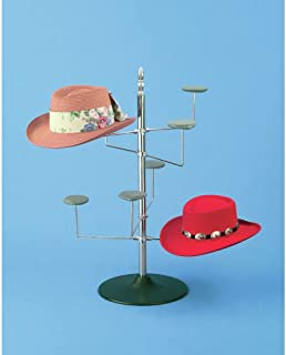 Revolving Hat Display, Countertop, Holds 8 Hats