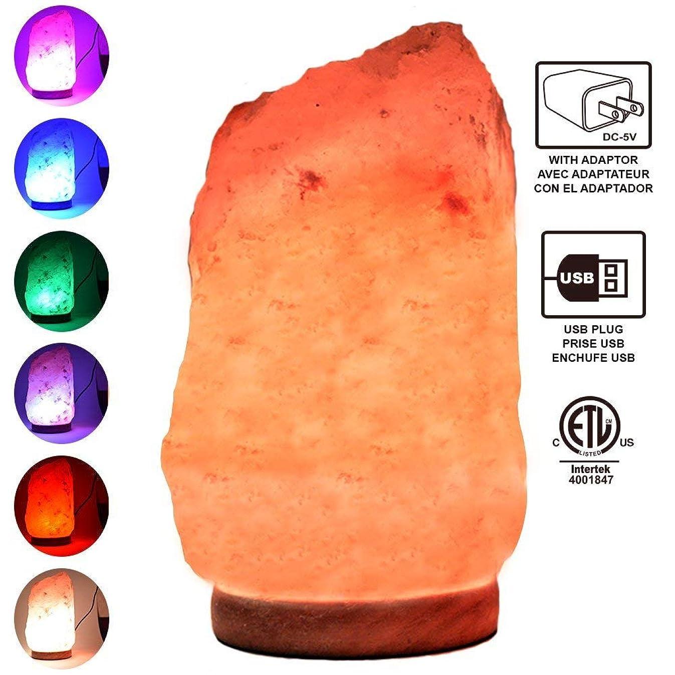 Himalayan Glow 900AC Multicolor USB Salt lamp, (4-5lbs)