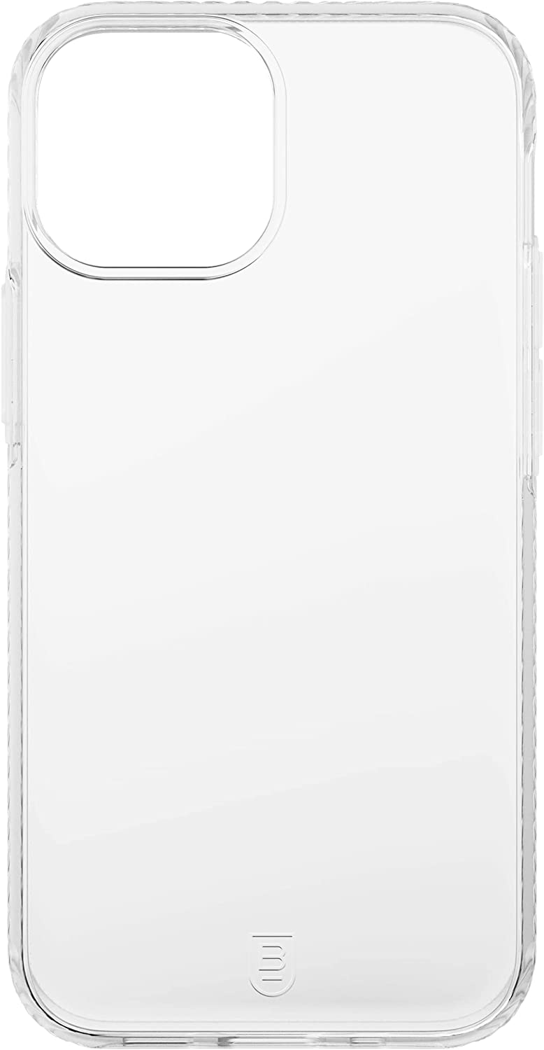 BodyGuardz Carve Phone Case, Compatible with iPhone 13 Pro Max, No-Slip Grip, Shockproof, 5G, MagSafe and Qi Charging, 8 Foot Drop Protection - Clear