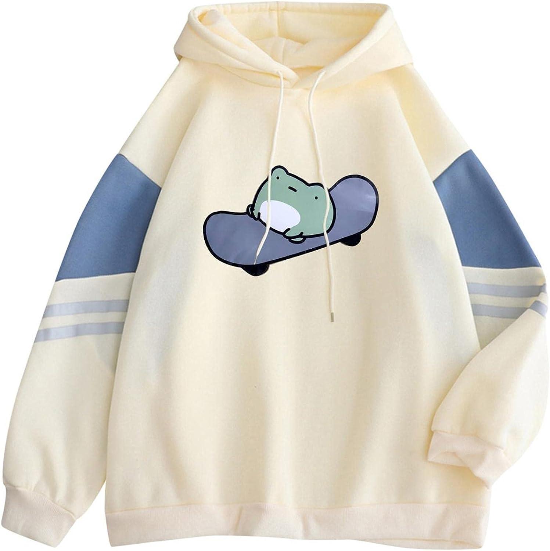 Women Hoodies Sweatshirts, Women Girls Cute Graphic Printed Long Sleeve Hoodie Casual Loose Pullover Tops