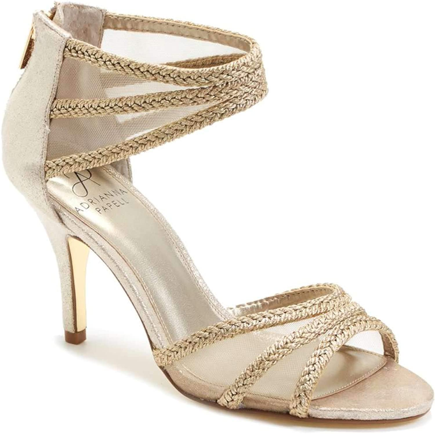 Adrianna Papell Womens Atlas Canvas Open Toe Ankle Strap Classic Pumps