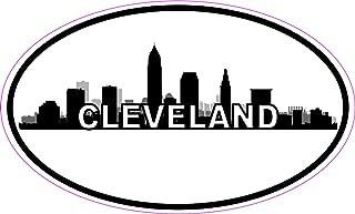 StickerTalk Oval Cleveland Skyline Vinyl Sticker, 5 inches by 3 inches