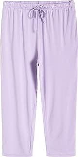 Weintee Women's Capri Pajamas Pants Bamboo Viscose Bottoms with Pockets