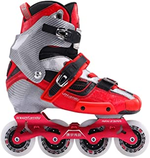XIANGNAIZUI 2019 Crazy Carbon Fiber Professional Slalom Inline Skates Adult Roller Free Skating Shoes Sliding Patines Similar with SEBA IGOR