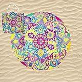 KN Toalla Playa Gigante para Mujer en Diseño de Impresos con Regalo de Una...