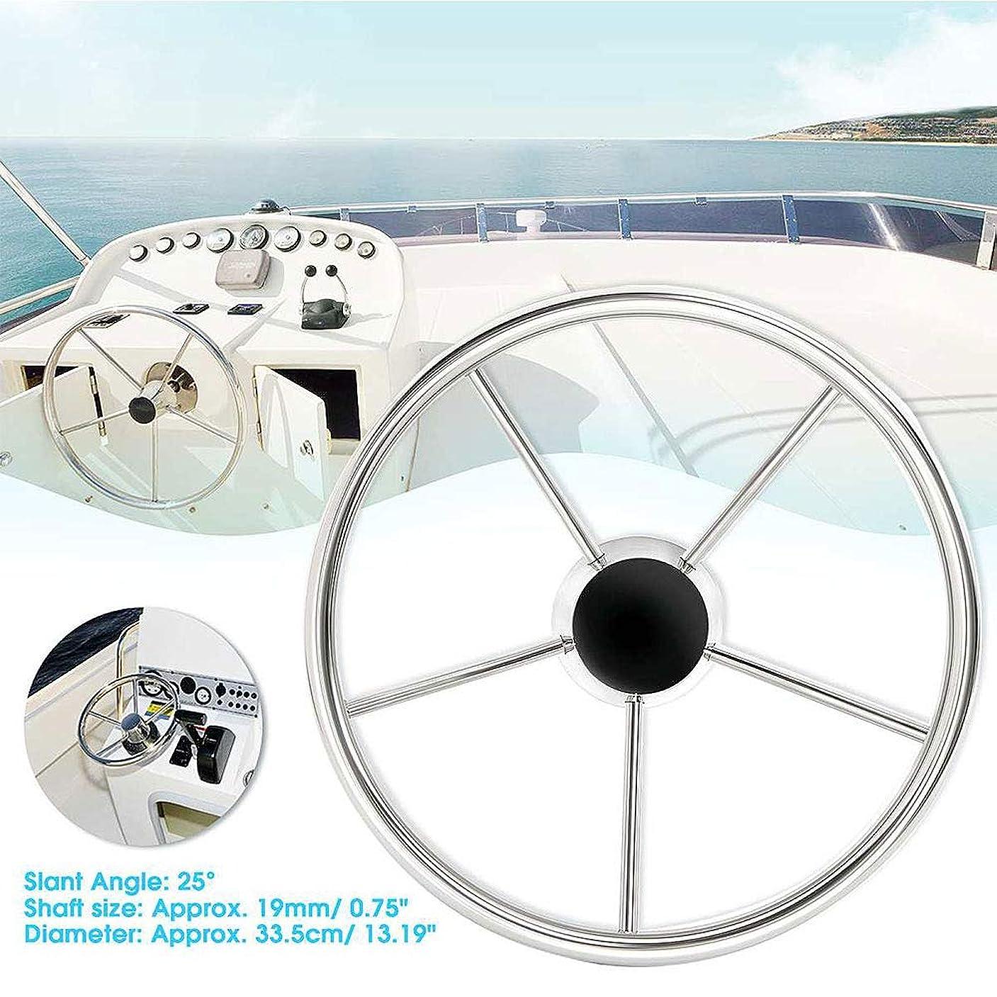 突然法廷インタフェースマリンステアリングホイール ステンレススチールボディ表面仕上げ、ヨット、スピードボート、漁船用の標準3/4インチテーパーシャフト。