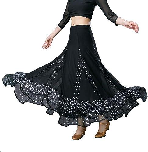 Danse Demi-Longueur Robe Jupe Longue Valse Moderne National Standard Jupe Pratique de la Danse Sociale