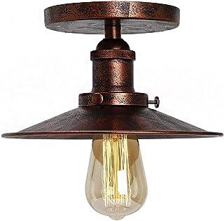 Huahan Haituo Vintage przemysłowy dom wiejski półpodtynkowa miedziana lampa sufitowa jedna oprawa oświetleniowa z przemysł...