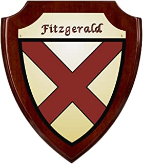 Fitzgerald Irish Coat of Arms Shield Plaque - Rosewood Finish