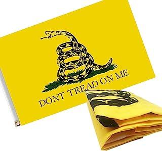 ERT Gadsden Don't Tread On Me Flag 3x5 Ft Embroidered Durable 210D Nylon for Outside - UV Fade Resistan - Brass Grommets -...