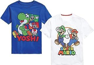 Nintendo Super Mario Bros. Boys Mario Kart & Friends Graphic Short Sleeve T-Shirts 2 Pack