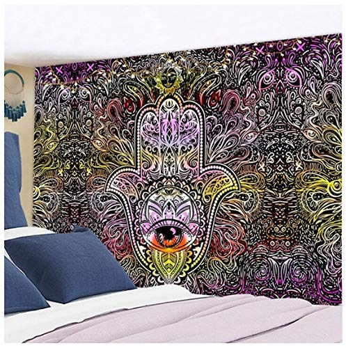 Tapiz artístico con mandala de imagen de Dios, tapiz artístico para colgar en la pared, alfombras de pared Hippie, manta decorativa para dormitorio, tapiz para decoración del hogar