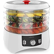 Cooks Club White Food Dehydrator... Cooks Club White Food Dehydrator with Adjustable Timer and Heat Settings Includes 4 Trays!