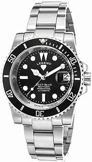 Legend 1001A-11 Deep Blue Automatic Ss Black Dial Ss Watch