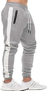 Men's Athletic Pants Skinny Side Stripe Casual Elastic Close Bottom Track Pants