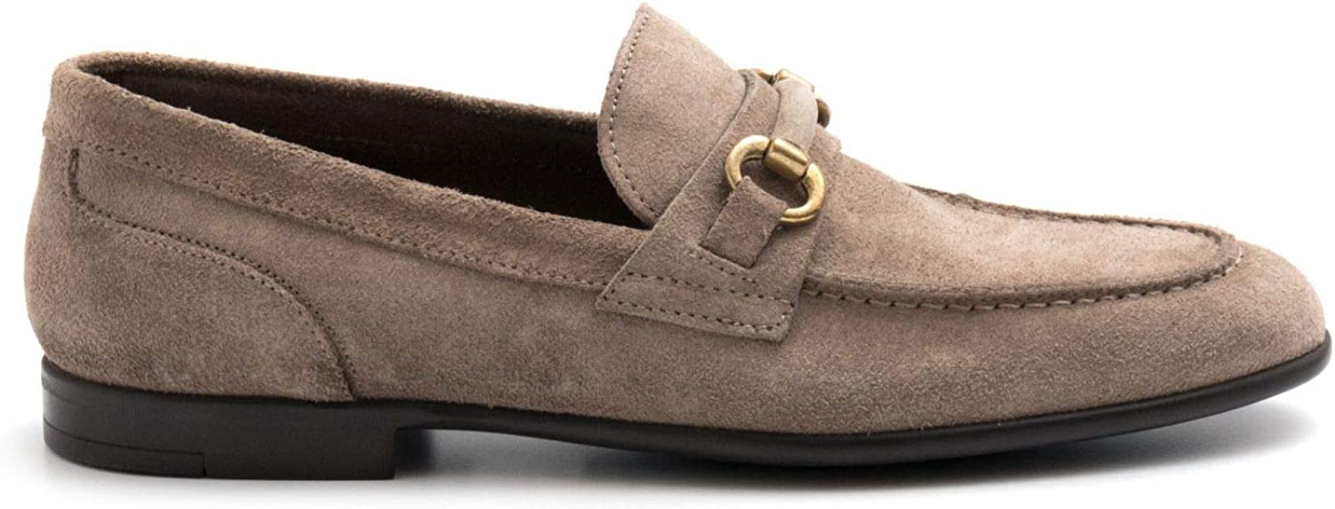 MARCO FERRETTI - Taupe Suede Mocassins with Buckle - 161226MFSUEDE K2