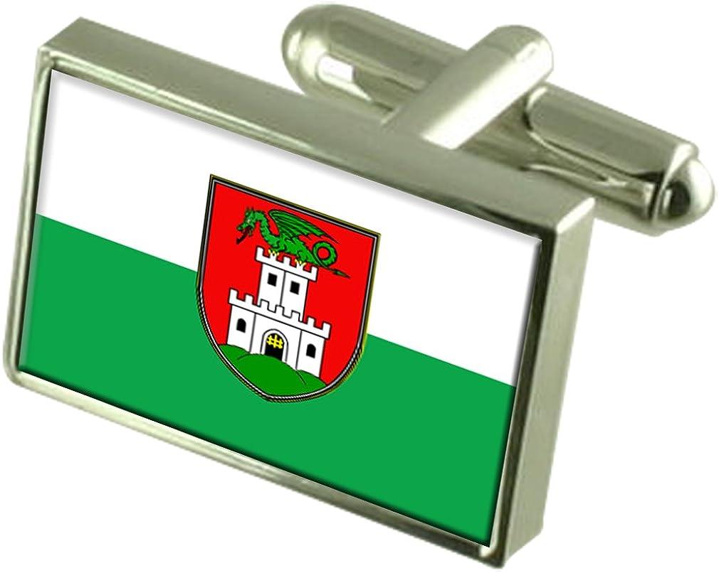 Select Overseas parallel import regular item Gifts Ljubljana City Slovenia Sterling Fort Worth Mall Silver Flag Cuffli