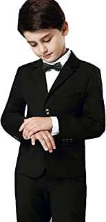 (AIMI)男の子 フォーマル スーツ 子供用 結婚式 発表会 ジャケット シャツ ズボン 蝶ネクタイ 4点セット 七五三 卒業式 入学式 NT002