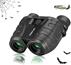 10x25 Folding High Powered Binoculars with Weak Light Night Vision Clear Bird Watching Great for Outdoor Sports Games and Concerts, Compact Binoculars Halloween for Adults/Kids