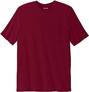 Men's Big & Tall Shrink-Less Lightweight Pocket Crewneck T-Shirt