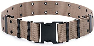 GI Army Style Mens Pistol Tactical Duty Belt Military Canvas Plastic Buckle
