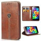 Galaxy S5 Hülle Hochwertig handyhülle s5 mit klappe tasche handyhuelle schutzhülle Handys Schutz...