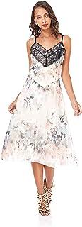 Little Mistress A Line Dress for Women - Multi Color, 6 UK, 9995C1A