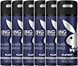Playboy King of the Game Deo Body Spray, 6er Pack...