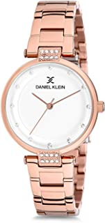 Daniel Klein Womens Quartz Watch, Analog Display and Stainless Steel Strap - DK12198-3