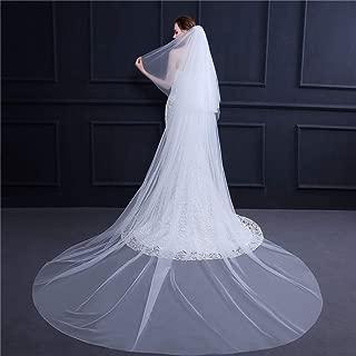 Mariage voile étage//chapelle//cathédrale longueur blanc cassé//ivoire cut edge *