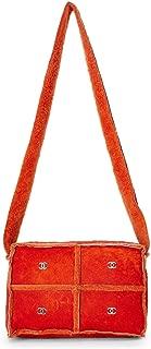 Orange Shearling Shoulder Bag Small (Pre-Owned)