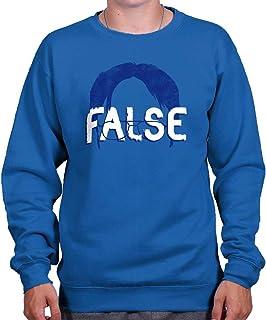 Brisco Brands False Funny Comedy TV Show Character Nerdy Crewneck Sweatshirt