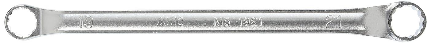 複合レンドヘビKTC(ケーテーシー) 45度×6度ロングめがねレンチ 19×21mm M51921