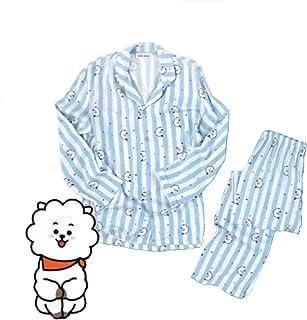 韓流 パジャマ 同じスタイル 純綿長袖 上下セット アイドル グッズ 男女兼用 グッズ 可愛い グッズ