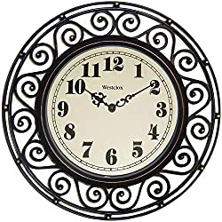 WESTCLOX, Clock Wall Wrought Iron Style, EA
