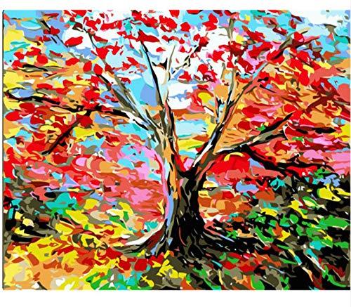 Puzzle De Madera Adulto 1000 Piezas Árbol De Color.Foto De Cartel, Decoración Del Hogar.
