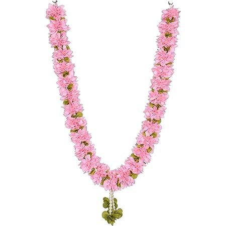 Daedal crafters Artificial Jasminum Garland (Pink)