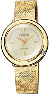 Citizen Women's Solar Powered Wrist watch, stainless steel Bracelet analog Display and Stainless Steel Strap, EM0642-87P