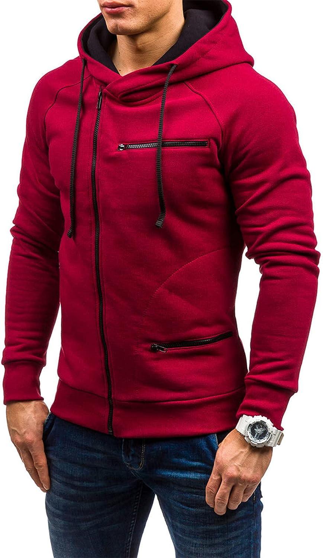 FORUU Winter Jacket For Men 2021 Solid Zipper Coat Slim Hoodie Jackets Fashion Warm Cardigan Jacket Sports Jacket
