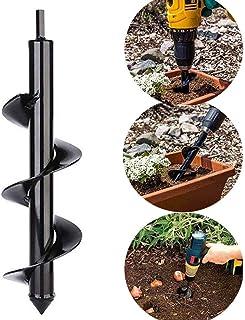 A Privilege Broca de Taladro de Acero para jardinería con Agujero de excavación para Plantar bulbos, Semillas, barrena de Plantas, 3