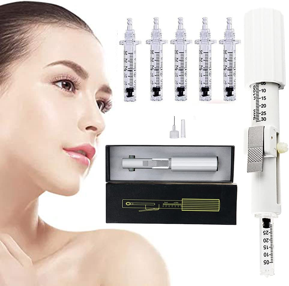 JSBVM Lápiz de ácido hialurónico, set nebulizador profesional con 5 ampollas para el cuidado de la piel, rejuvenecimiento, aclarado, hidratación, salón de belleza